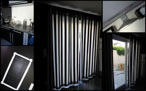 rideaux noir blanc