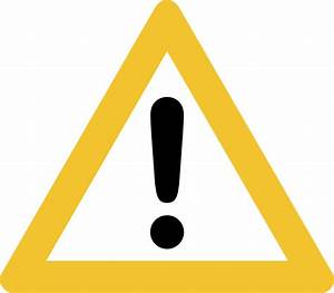 Warning Sign clip art Free Vector / 4Vector
