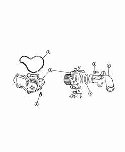 2002 Jeep Liberty Tube  Water Pump Inlet  Transmission