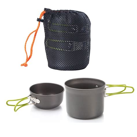 stick pots pans bowls portable outdoor camping hiking picnic cooking set cookware good