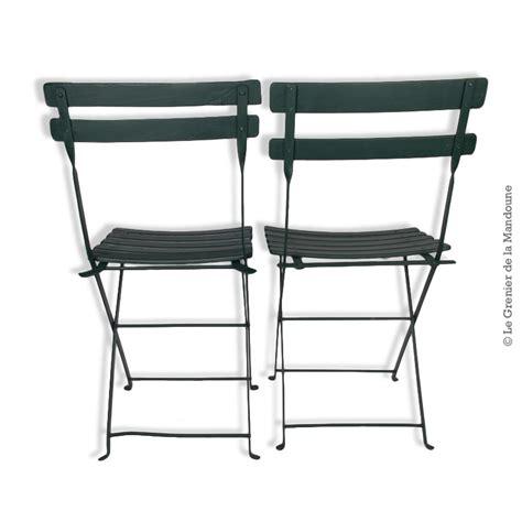 chaises de jardin pliantes 2 anciennes chaises pliantes de jardin bois et fer