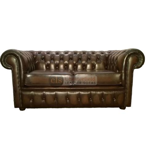 chesterfield sofa brown leather chesterfield genuine leather antique brown two seater sofa