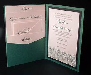 irish green celtic wedding invitation a7 pocket by With side pocket fold wedding invitations