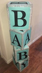 Block Name Baby Shower Decorations