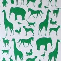 Ferm Living Animal Farm Wallpaper - childrens wallpaper bedroom wallpaper murals