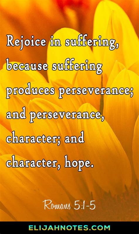 So, let us get that quality with this inspirational perseverance quotes and sayings that will boost up your perseverance. 25 Bible Verses About Perseverance Through Hard Times - Elijah Notes