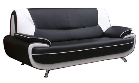 canape noir et blanc deco in canape 3 places design noir et blanc