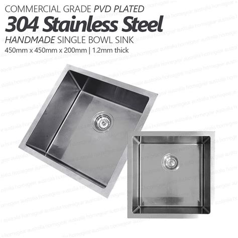 sink kitchen stainless steel 450mm square handmade 304 stainless steel sink 5283