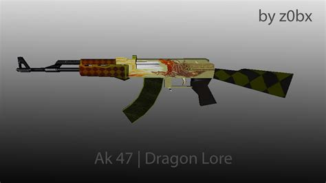 Ak 47 Dragon Lore By Z0bx (counterstrike 16 > Skins