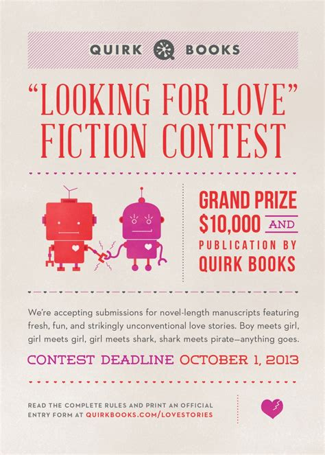 "Pub Quirk Books ""looking For Love"" Fiction Contest Neo"