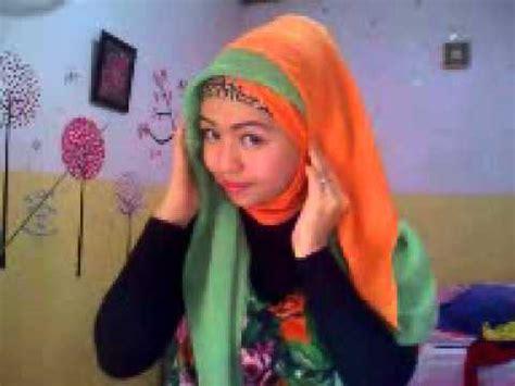 jilbab dua warna tutorial jilbab dua warna by riska 4
