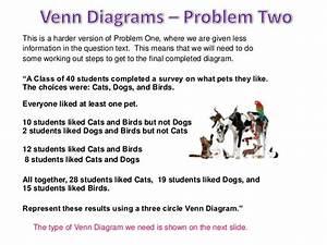 Problem Solving Involving Sets Using Venn Diagrams