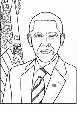 Coloring Printable Obama Barack Presidents Pages President Michelle Crayola Templates Lincoln Template Getcoloringpages sketch template