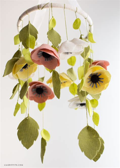 picture of diy floral mobile felt flower mobile flower mobile flower and felt flowers