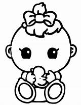 Baby Coloring Printable Shower Pages Popular sketch template