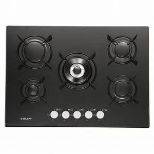 Plaque De Cuisson 5 Feux : table de cuisson verre 5 feux gaz 70cm gv755bk achat ~ Dailycaller-alerts.com Idées de Décoration