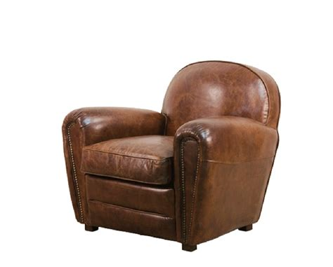 The Classic Club Chair In Vintage Leather With Backrest