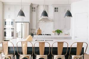 dark gray kitchen island with black industrial pendants With kitchen colors with white cabinets with rocky mountain metal wall art