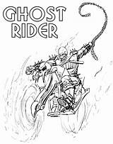 Rider Ghost Coloring Pages Ghostrider Spider Cartoon Cool Adults sketch template