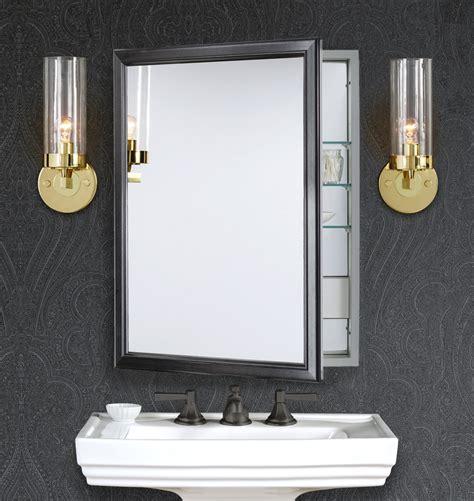 bathroom medicine cabinets with electrical outlet framed medicine cabinet with outlet brushed black