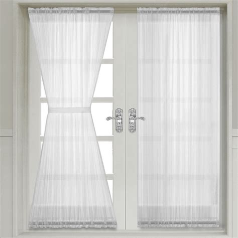 door panel curtains abri crushed sheer door curtain panel single