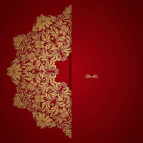 red wedding invitation vector background   red