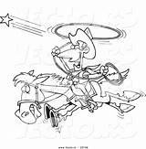 Coloring Cowboy Outline Cartoon Stagecoach Pages Star Template Horse Drawing sketch template