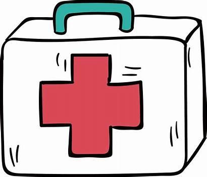 Aid Kit Clipart Clip Transparent Medicine Cartoon
