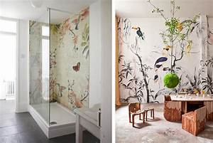 papier peint oiseaux et fleurs With affiche chambre bébé avec fleur exotique bouquet