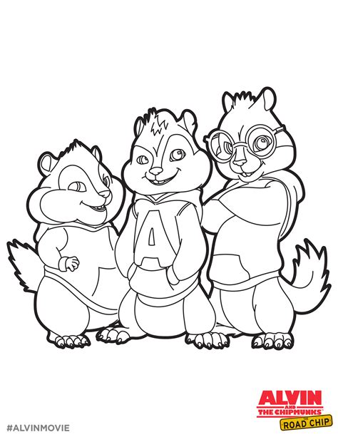 Alvin And The Chipmunks Free Coloring Printable Alvin