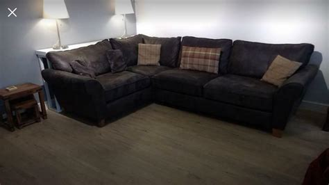 Scs Settee by Faux Suede Corner Sofa From Scs Only A Year Great