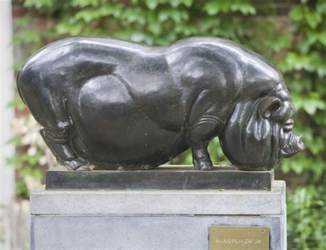 Suidae Family Animal Sculpture At The Artis Royal Zoo