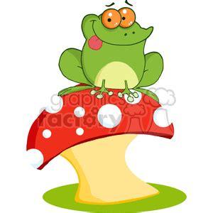 royalty   green frog  orange eyes sitting