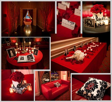 red and black table ls real wedding powers davison stardust celebrations