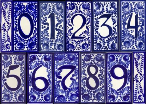 Mexican Tile House Numbers by Classic House Images
