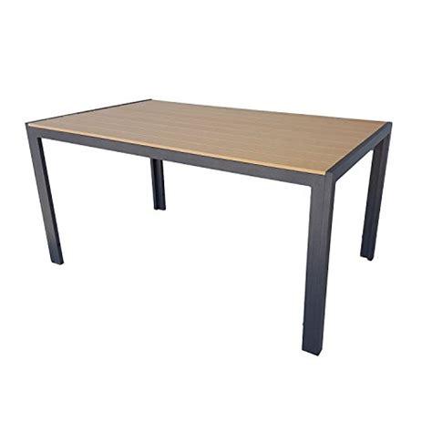 Möbel24  Gartentisch Mit Kunst Holz Polywood Aluminium