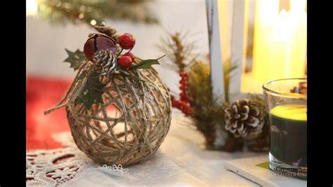 rustic twine ball ornament diy youtube