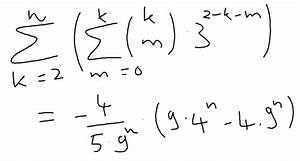 Reihenwert Berechnen : reihen reihenwert k tief m 3 2 k m doppelsumme innen m 0 bis k aussen k 2 bis ~ Themetempest.com Abrechnung