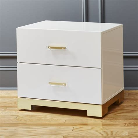 Wide White Nightstand by White Modern Nightstand Doma Kitchen Cafe