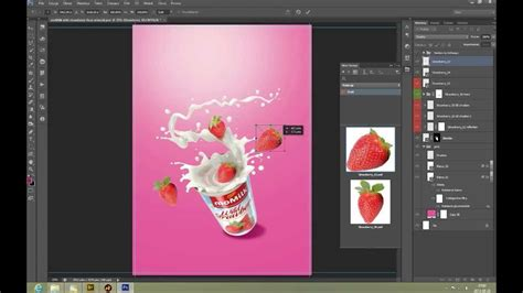 Create a Commercial Print Advertisement Using 3D Splashes ...