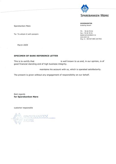 Contoh Resume Nhs by Sle Bank Reference Lettersexles Of Reference Letters