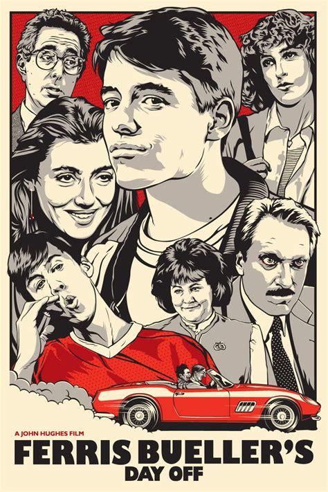 movie classic posters ferris bueller artwork movies poster film films 80s joshua budich favorite prints cool artistic cast