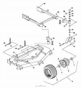 Bunton  Bobcat  Ryan 942206 Zt 200 23hp Kaw W  61 Side Discharge Parts Diagram For Cradle