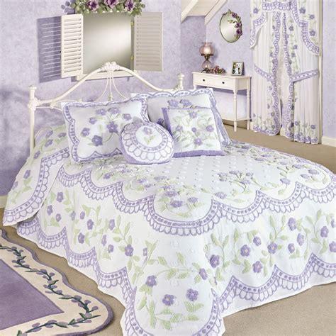 Lavender Coverlet by Cottage Garden Lavender Chenille Oversized Bedspread