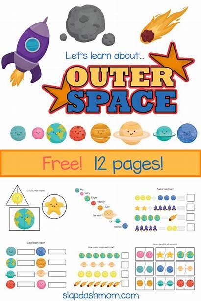 Solar Worksheets Kindergarten Planets System Space Printables