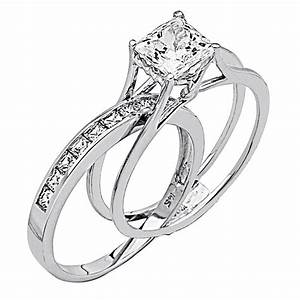 Wedding Rings For Women Princess Cut - 14K White Gold High ...