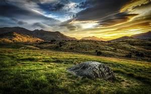 HD Morning Mountains Sky Landscape Sunrise Sunset Hdr HD ...