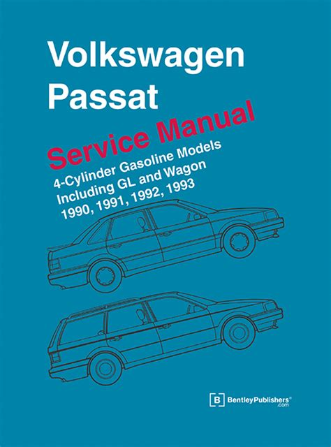car repair manuals online free 1991 volkswagen type 2 spare parts catalogs front cover vw volkswagen repair manual passat 1990 1993 bentley publishers repair