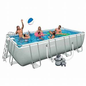 Piscine Tubulaire Intex Castorama : piscine tubulaire intex ultra silver 457 x 274 x 122 cm ~ Dailycaller-alerts.com Idées de Décoration