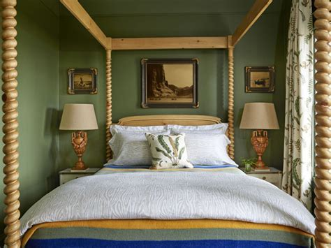 Alligator Alley Green Bedroom   Interiors By Color